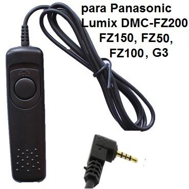 Cabo Disparador DMW-RS1 RS4008 para Panasonic LUMIX DMC- FZ 150, FZ20, DMC-G1A