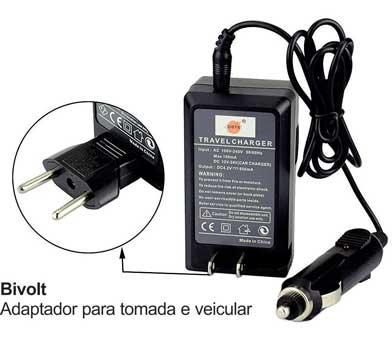 Kit Bateria + Carregador NP-FW50 1000mAh para câmera digital e filmadora Sony NEX-3, NEX-3A, NEX-3D, NEX-5, NEX-5K