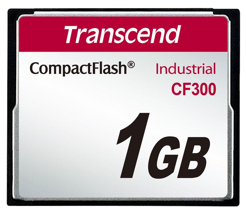 Cartão de memória CompactFlash Transcend 1GB TS1GCF300 300x Industrial