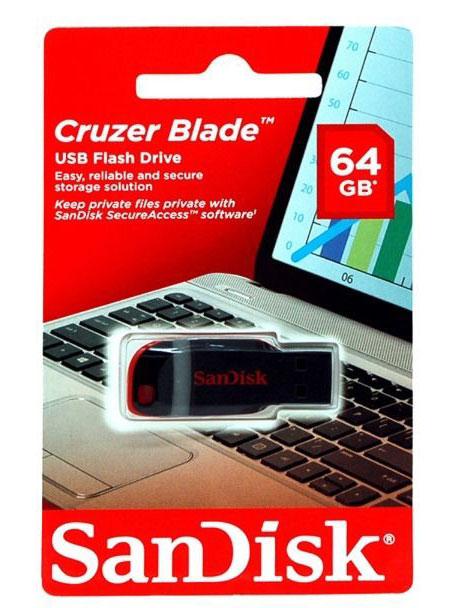 Pen drive Sandisk 64GB Cruzer Blade