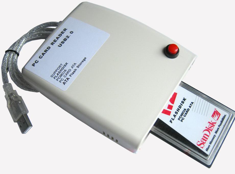 Leitor USB para PCMCIA, PC card ATA, flasdisk, ATA Flash Storage