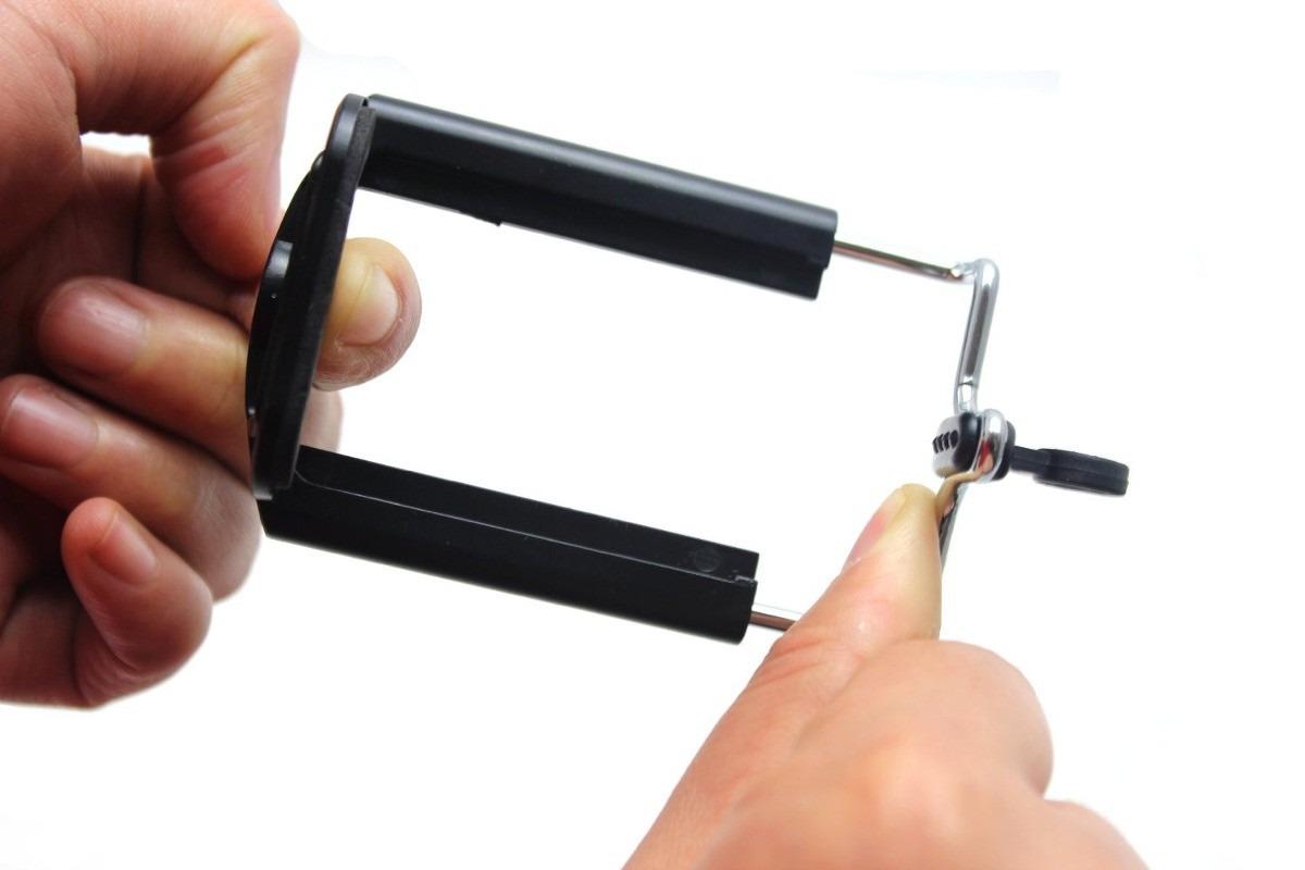 Bastão De Mão Retrátil Monopod 97cm + suporte para celular smartphone