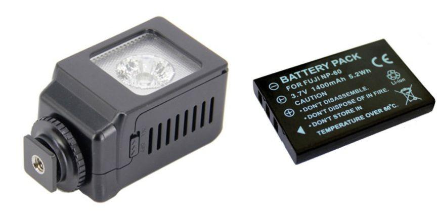 Iluminador de LED Profissional LED-VL013 + bateria NP-60
