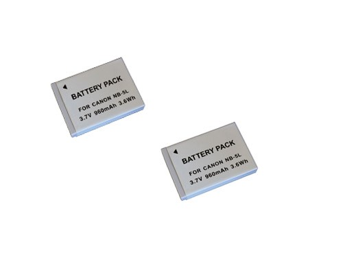 2 baterias NB-5L para Canon  Digital Ixus 800 IS, POWERSHOT SD900