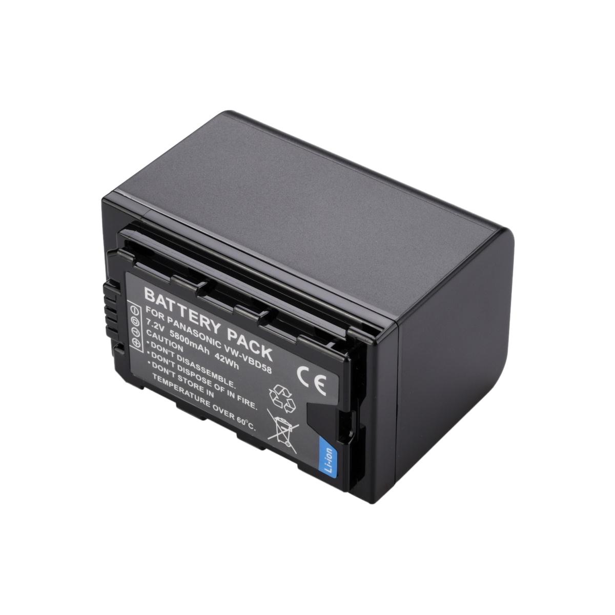 2 Vw-vbd58 + Carregador Para Panasonic AG-AC8 AJ-PX270 HC-X1000