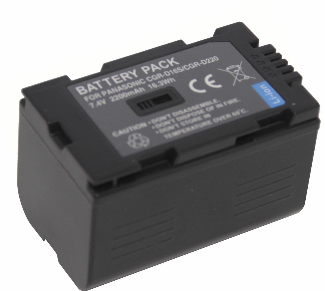 Bateria CGR-D16S D220 Para Panasonic Câmera digital e filmadora CGR CGP-D320T1B CGR-D08A NV-MX300
