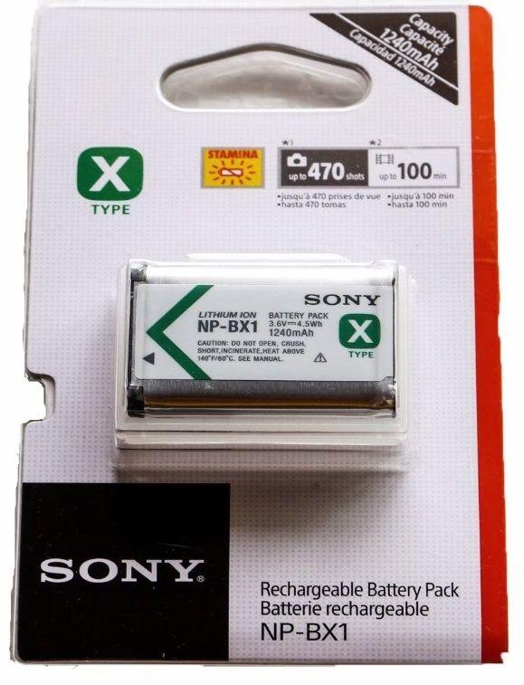 Bateria NP-BX1 ORIGINAL SONY para DSC-RX1, DSC-RX100M2, DSC-HX300, HDR-MV1, HDR-AS15