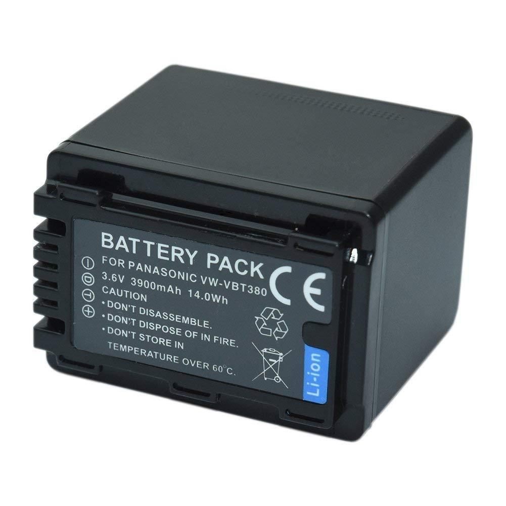 Bateria VW-VBT380 para câmera digital e filmadora Panasonic HC-V550