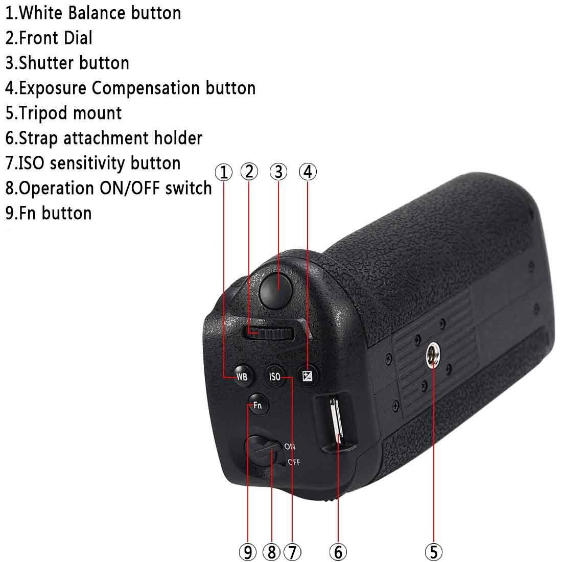 Battery Grip DMW-BGGH5 para Panasonic DMC-GH5