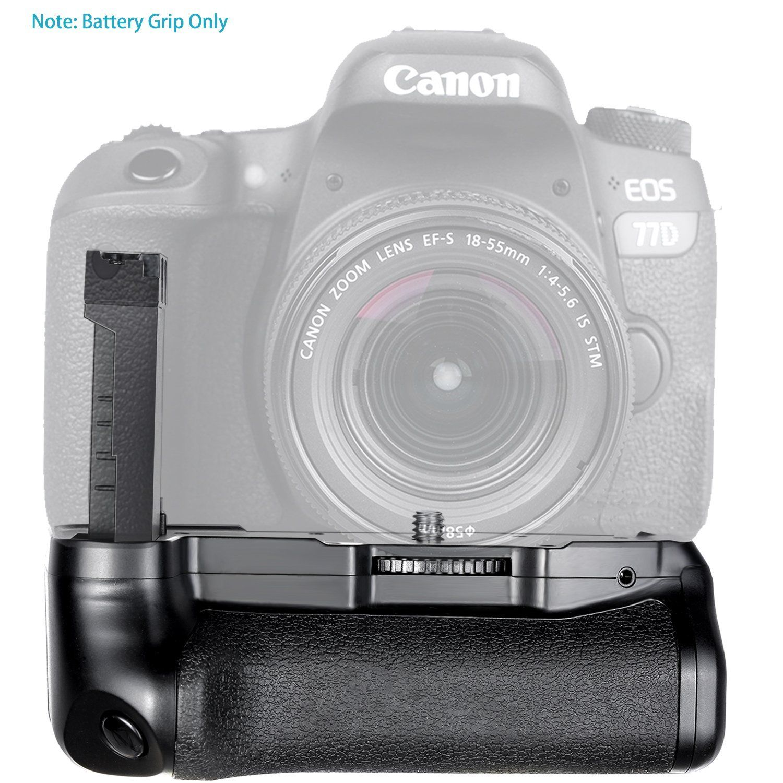 Battery Grip para Canon EOS 800D, Rebel T7i, 77D, Kiss X9i