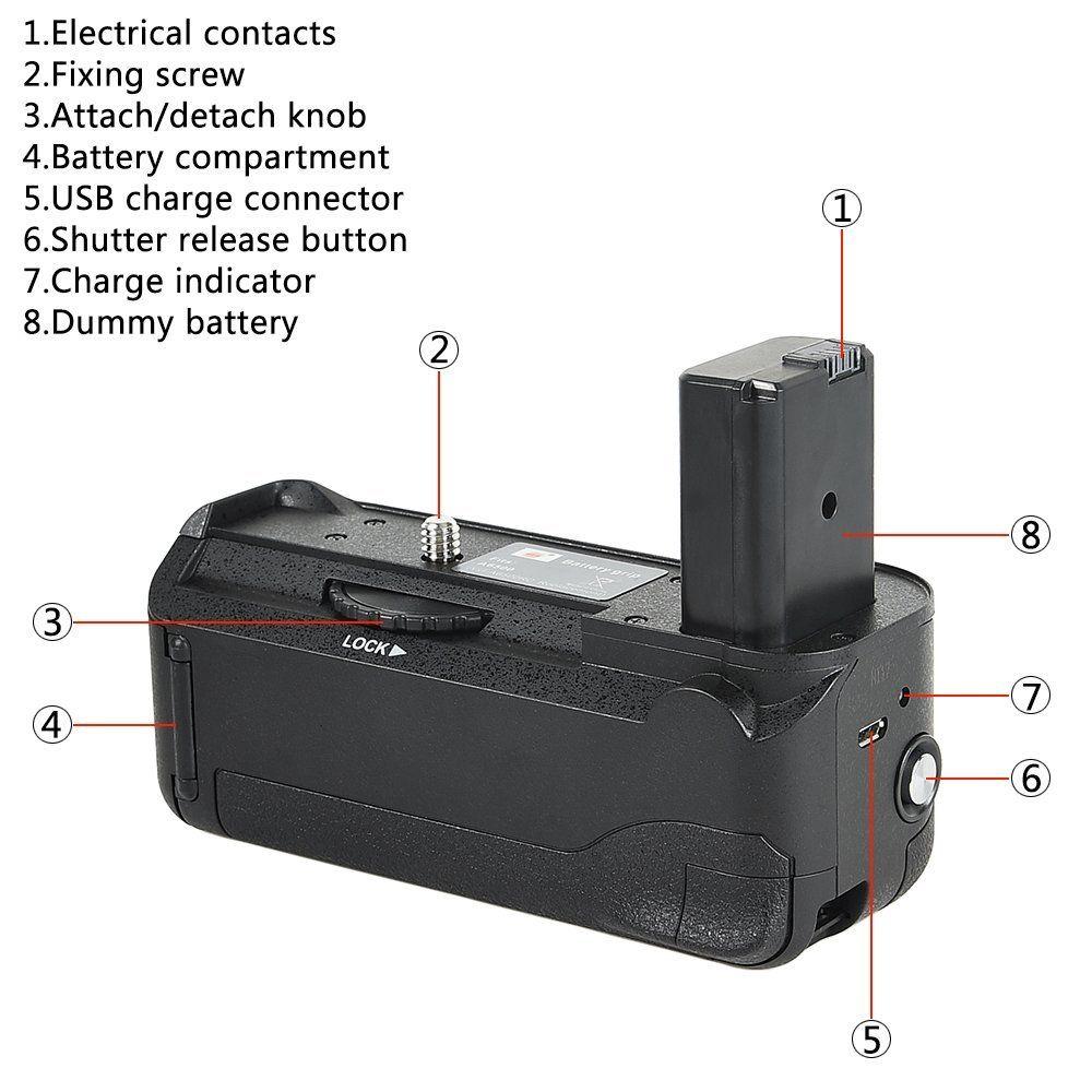 Battery Grip VG-A6500 para Sony A6500
