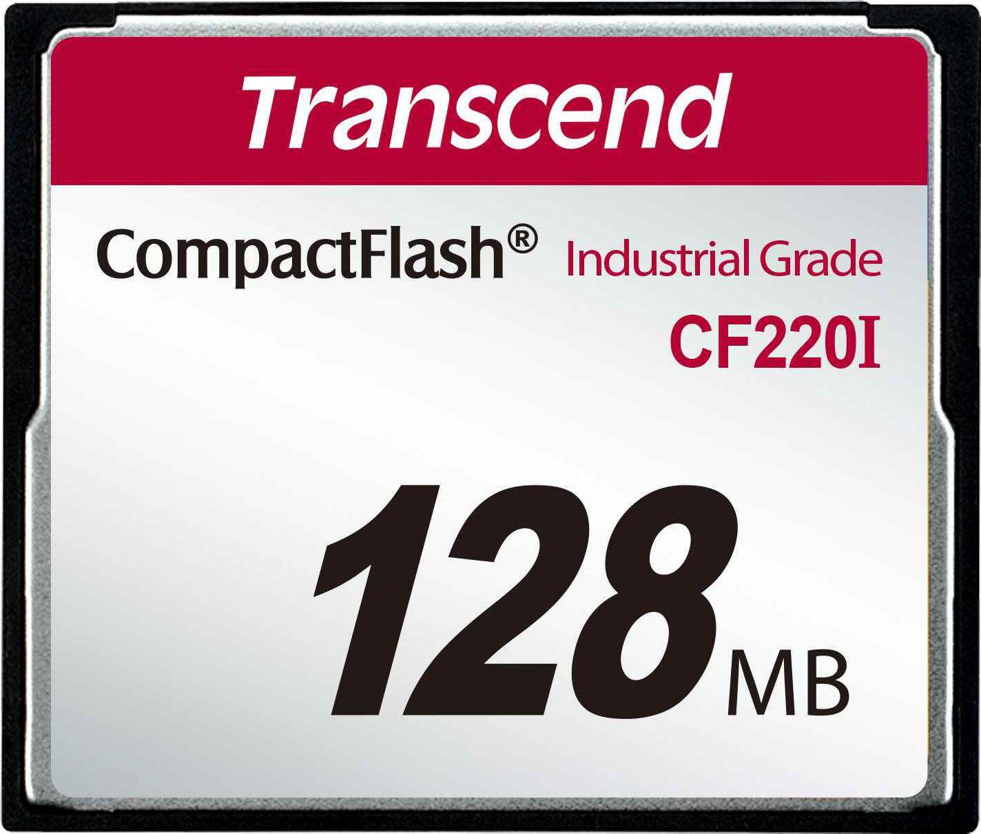 Cartao de memoria CompactFlash Transcend 128MB TS128MCF220I 200x Industrial Grade