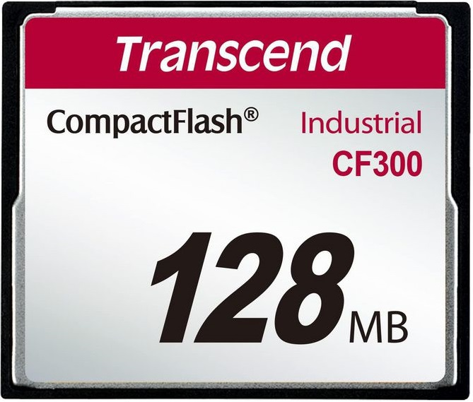 Cartão de memória CompactFlash Transcend 128MB TS128MCF300 300x Industrial