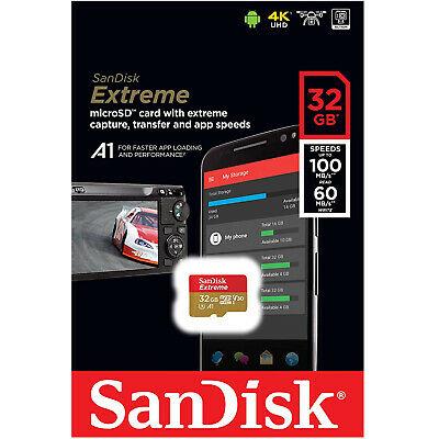 Cartão de memória MicroSDHC SanDisk 32GB Extreme Classe 10 UHS-3 100MB/s