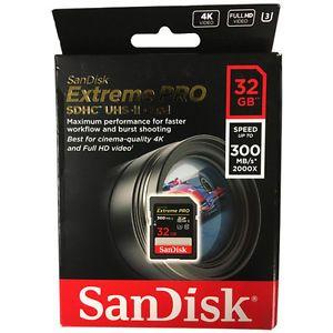 Cartão de Memória SDHC 32GB Sandisk Extreme Pro 300MB/s