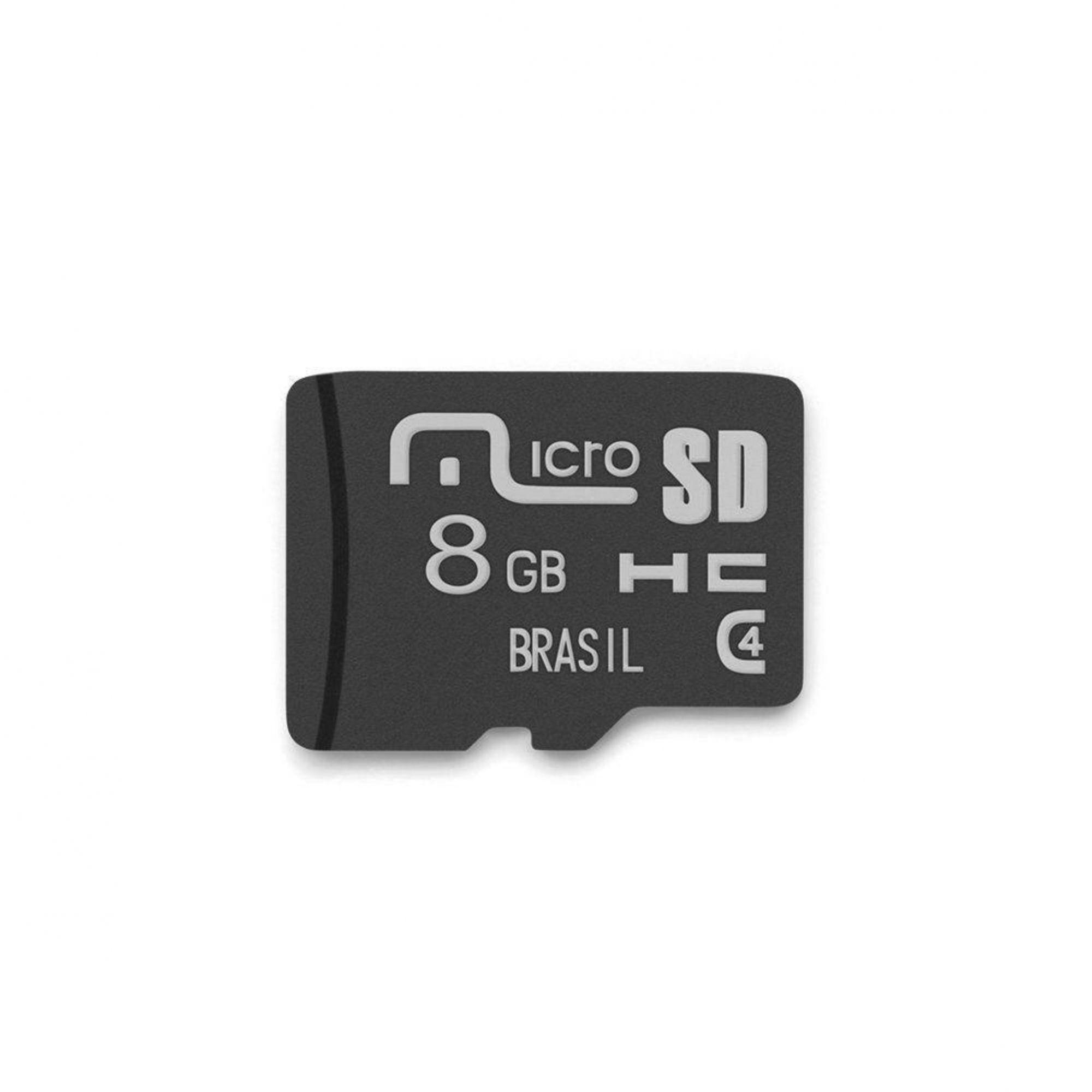 CARTÃO MICROSDHC MULTILASER 8GB CL 4