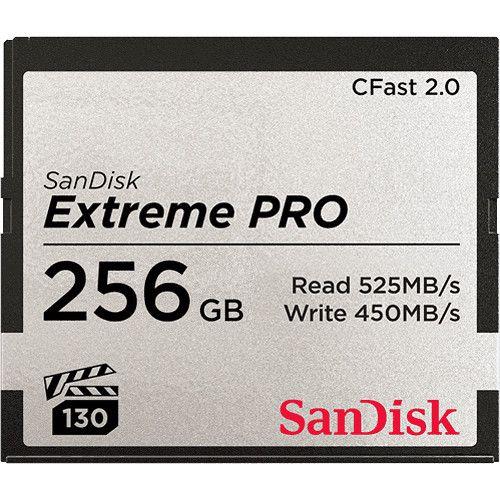 CFAST 256GB SANDISK EXTREME PRO 525MB/S 2.0