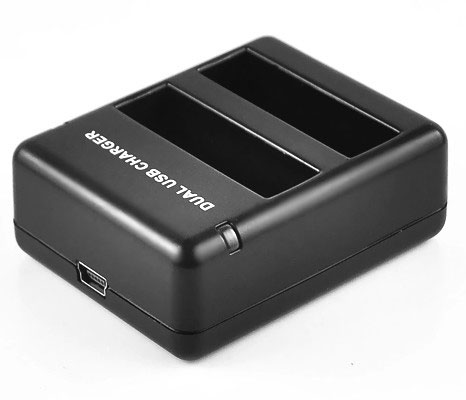 Kit 1 Bateria Carregador Duplo Gopro Hero 4 Go Pro Ahdbt-401