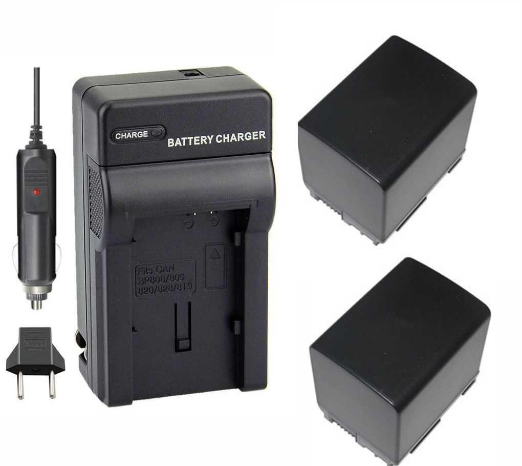 KIT 2 BATERIAs BP-820 P/ CANON + CARRE BP-808