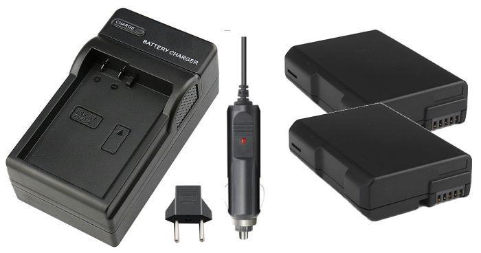 Kit 2 Baterias EN-EL14 + carregador para câmera digital e filmadora Nikon SLR P7000, D3100, D3200, D5100, P7100