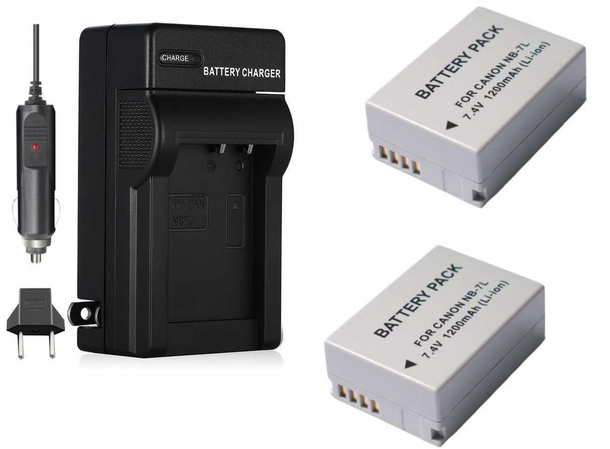 Kit 2 Baterias NB-7L + carregador para Canon Powershot G10