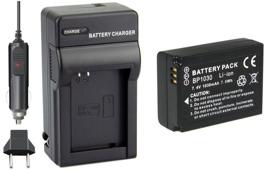 Kit bateria BP-1030 + carregador para Samsung NX200 NX210 NX300 NX1000 NX2000