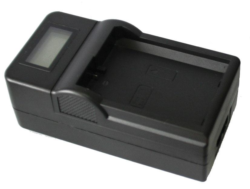 Kit Bateria + Carregador Com Lcd para Sony Np-fm50