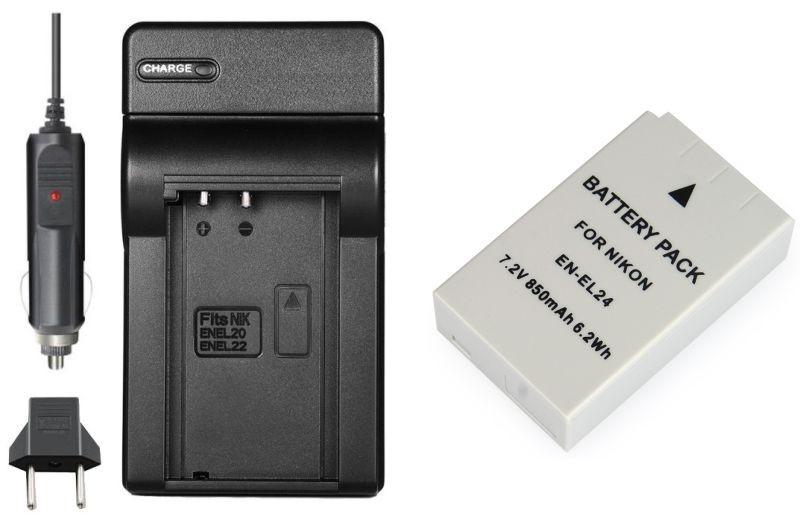 Kit Bateria EN-EL24 + Carregador para Nikon 1 J5