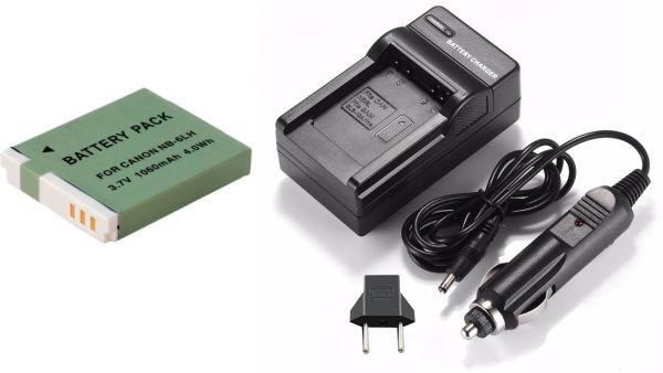 Kit Bateria NB-6LH + Carregador para Canon S120 S200 SX170 SX275 SX510 D10 SD770