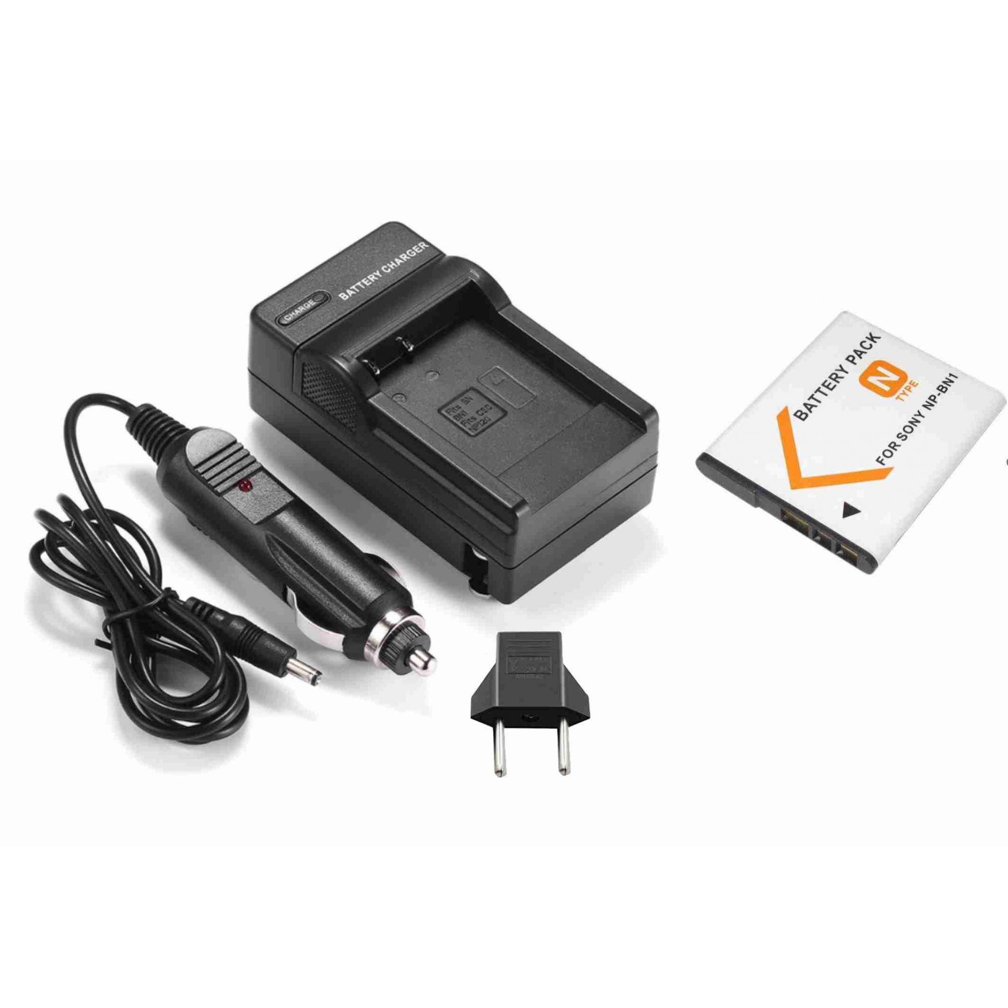 Kit Bateria NP-BN1 + carregador para Sony DSC-W10, DSC-WX7, DSC-T110, DSC-TX5, DSC-T99D, DSC-J10