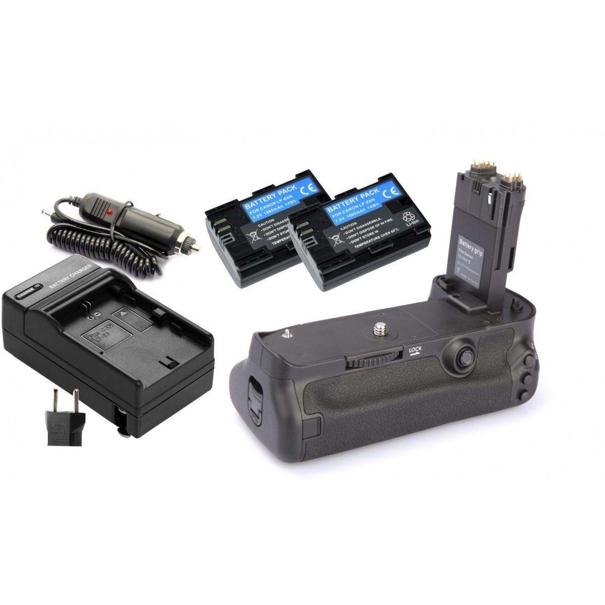Kit Battery Grip BG-E11 para Canon EOS 5D Mark III + 2 Baterias LP-E6 + 1 Carregador