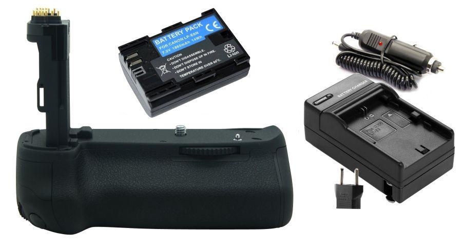 Kit Battery Grip BG-E13 + 1 Bateria LP-E6 + 1 Carregador para Canon EOS 6D