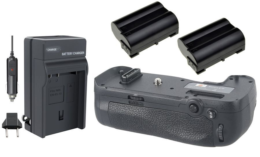Kit Battery Grip MB-D17 + 2 baterias EN-EL15 + carregador para Nikon D500