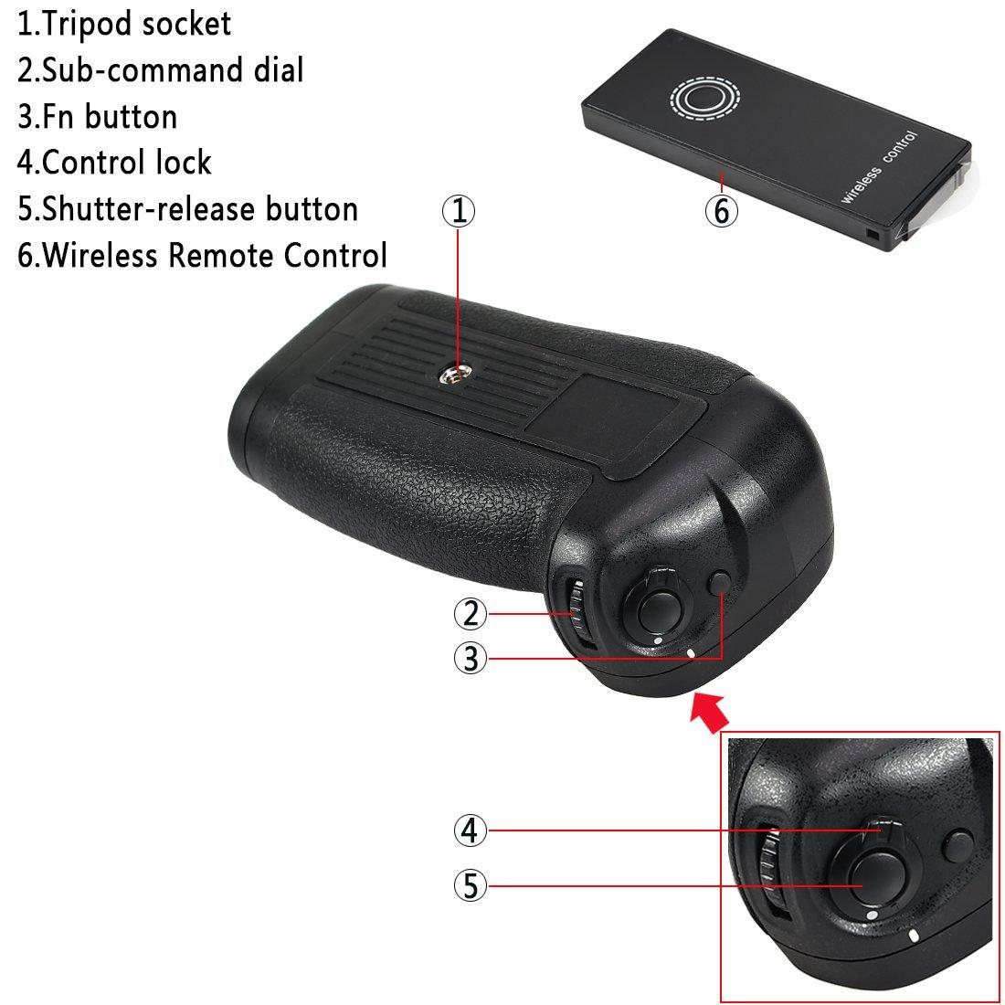 Kit Battery Grip MB-D18 para Nikon D850 + 2 baterias EN-EL15 + carregador