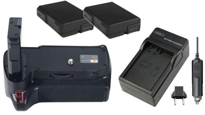 Kit Battery Grip MB-D3400 para NIKON D3400 + 2 baterias EN-EL14 + carregador