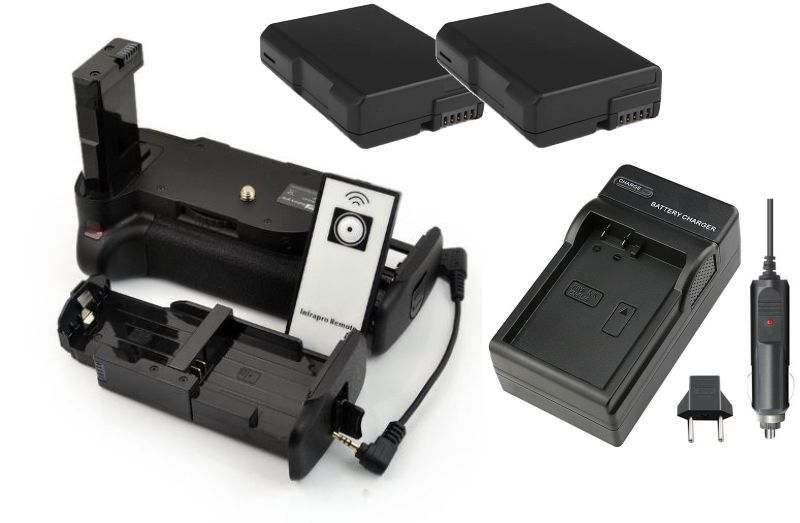 Kit Battery Grip MB-D5100 para Nikon D5100 D5200 + 2 baterias EN-EL14 + Carregador