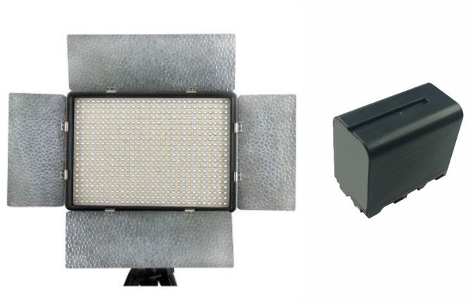 Kit Iluminador de LED Profissional LED-600AS + bateria NPF950