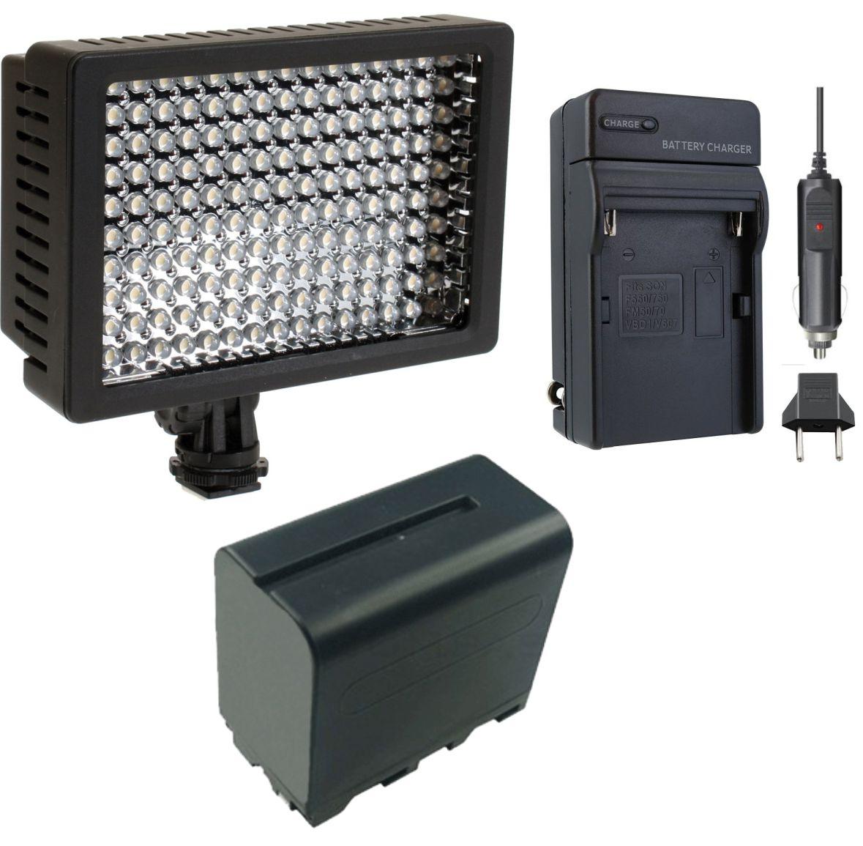 Kit Iluminador Profissional LED VL003-150 + Bateria NP-950 + Carregador NP-FM50