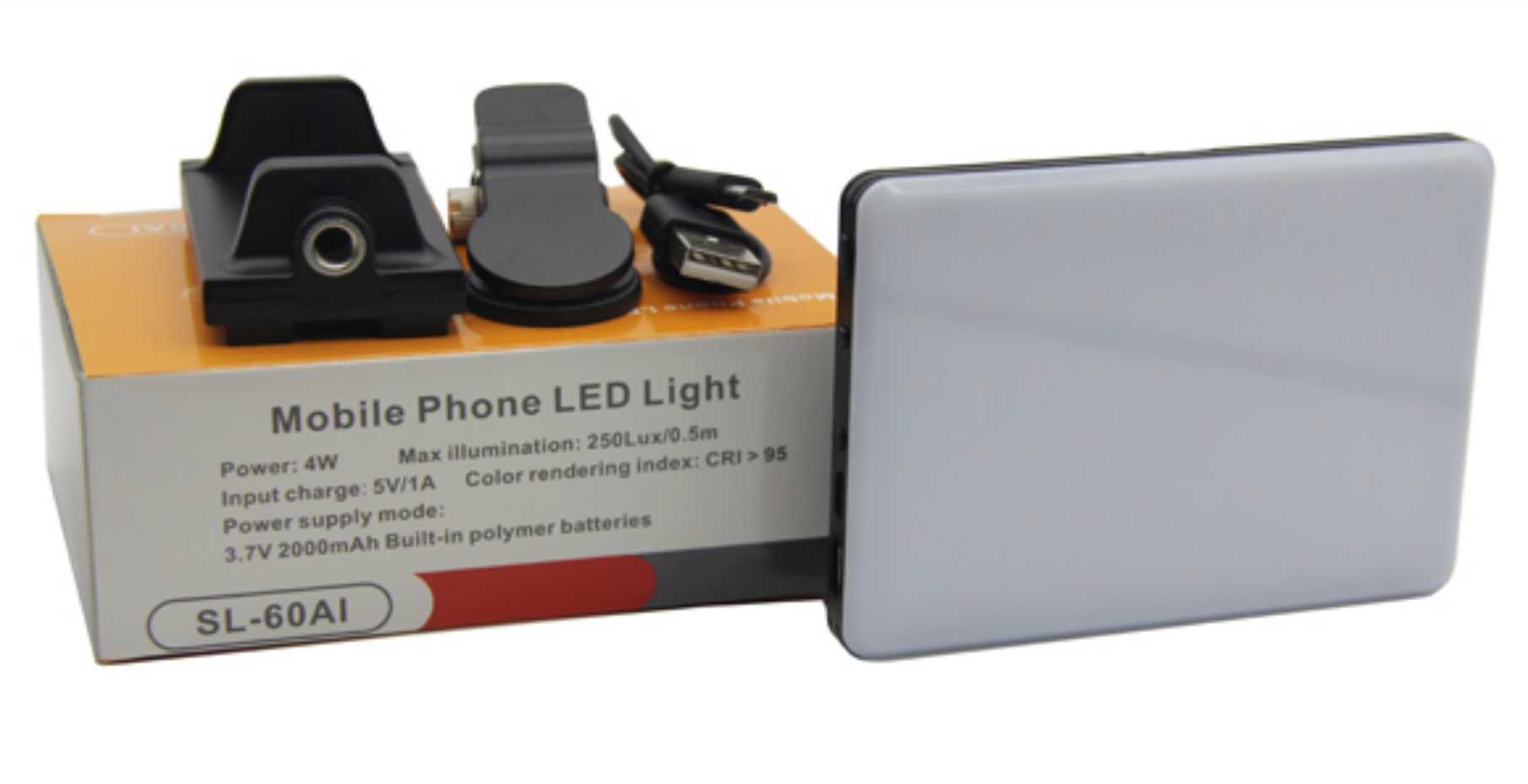 Luz de LED para celular  SL-60AI 2000 mAh