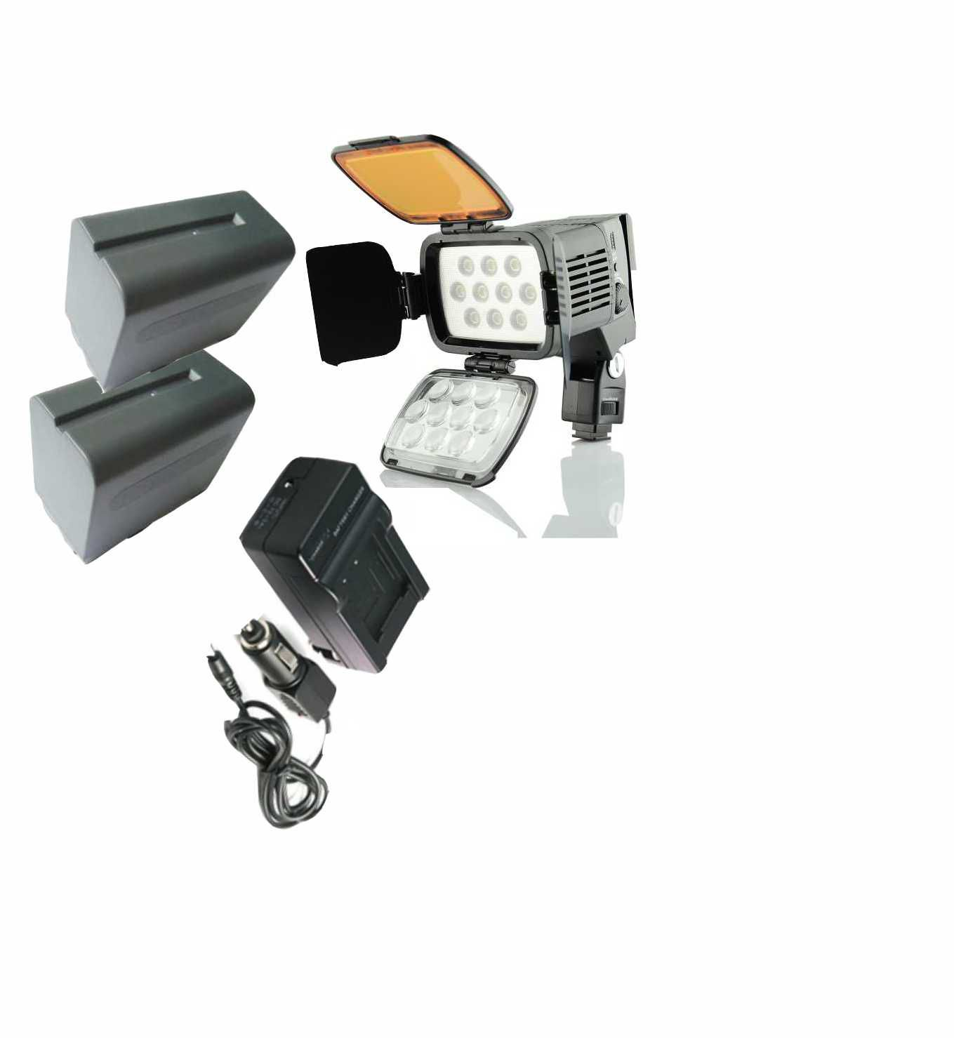 LED-VL001A + 2 BATERIAS 970 + CARREGADOR