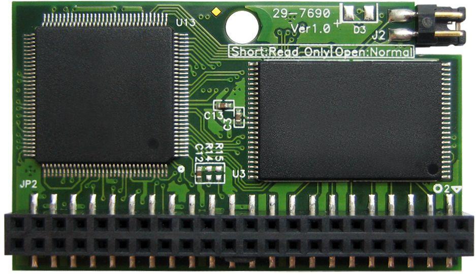 Módulo IDE Flash DOM 44 Pinos PATA 4GB Transcend (Horizontal)
