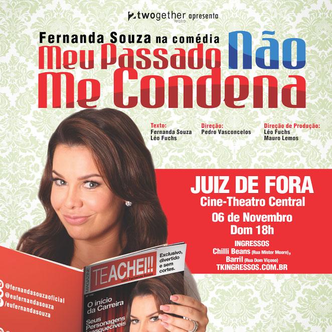 Fernanda Souza - Meu passado não me condena - 06/11/16 - Juiz de Fora - MG