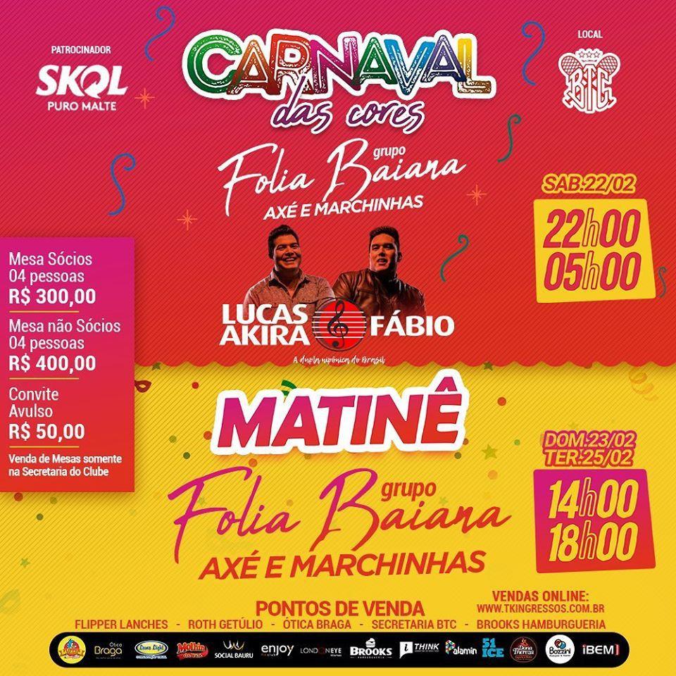 Carnaval das Cores - 22/02/20 - Bauru - SP