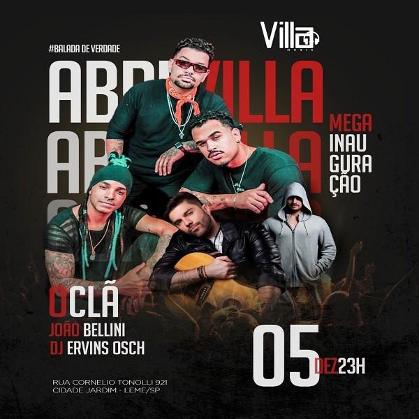 Inauguração Villa Music - 05/12/20 - Leme / SP