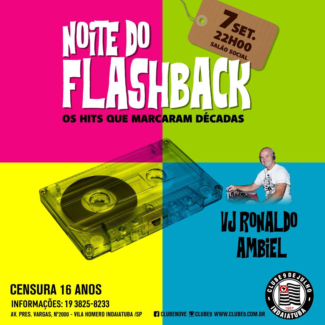Noite do Flashback - 07/09/19 - Indaiatuba - SP