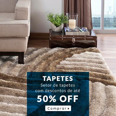 tapetes com até 50% off