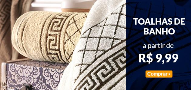 toalhas de banho   a partir de r$ 9,99