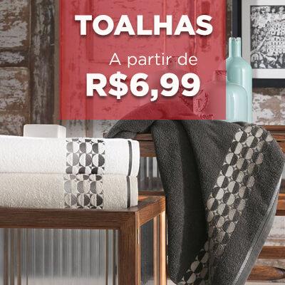 toalhas a partir de r$ 6,99