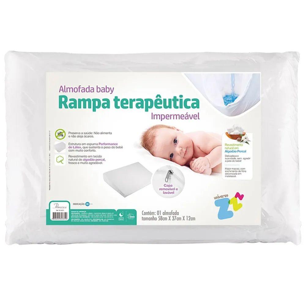 Almofada Fibrasca Adulto Antirrefluxo Baby 59x38x1,8