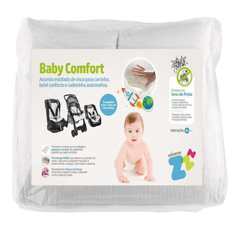 Assento Estofado Fibrasca Baby Comfort para Carrinho 40x60x5.5cm Branco